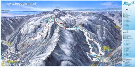 Mapa lyžařského střediska Sella Nevea-Bovec