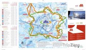 Mapa lyžařského střediska Sella Ronda