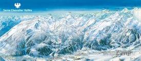 Mapa lyžařského střediska Serre Chavalier