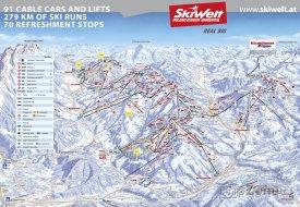 Mapa lyžařského střediska SkiWelt Wilder Kaiser-Brixental