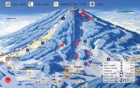 Mapa lyžařského střediska Tanvaldský Špičák