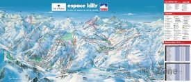 Mapa lyžařského střediska Tignes les Brévières