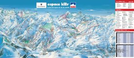 Mapa lyžařského střediska Val d'Isère