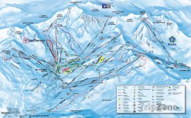 Mapa lyžařského střediska Val Thorens