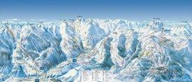 Mapa lyžařského střediska Vald'Allos