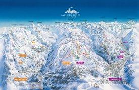 Mapa lyžařského střediska Valmeinier
