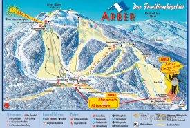 Mapa lyžařského střediska Velký Javor