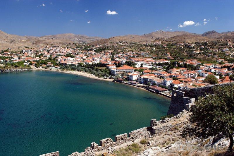 Fotka, Foto Městečko Myrina na ostrově Limnos (Řecko)