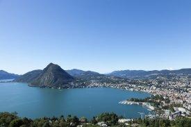 Město Lugano a Luganské jezero