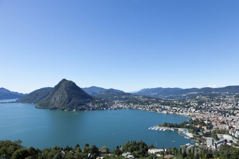 Fotka, Foto Město Lugano a Luganské jezero (Švýcarsko)