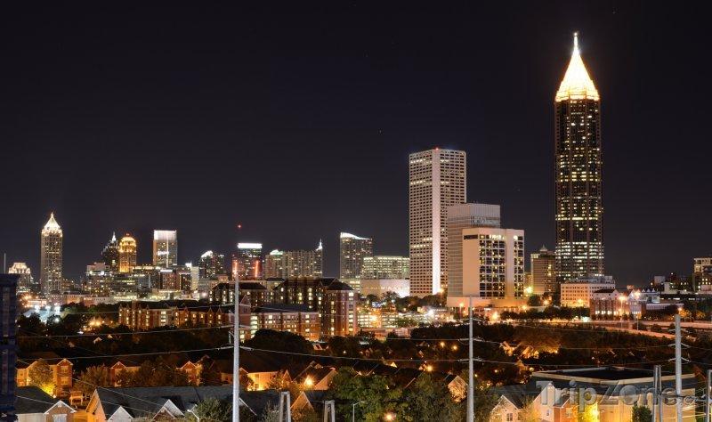Fotka, Foto Město v noci (Atlanta, USA)