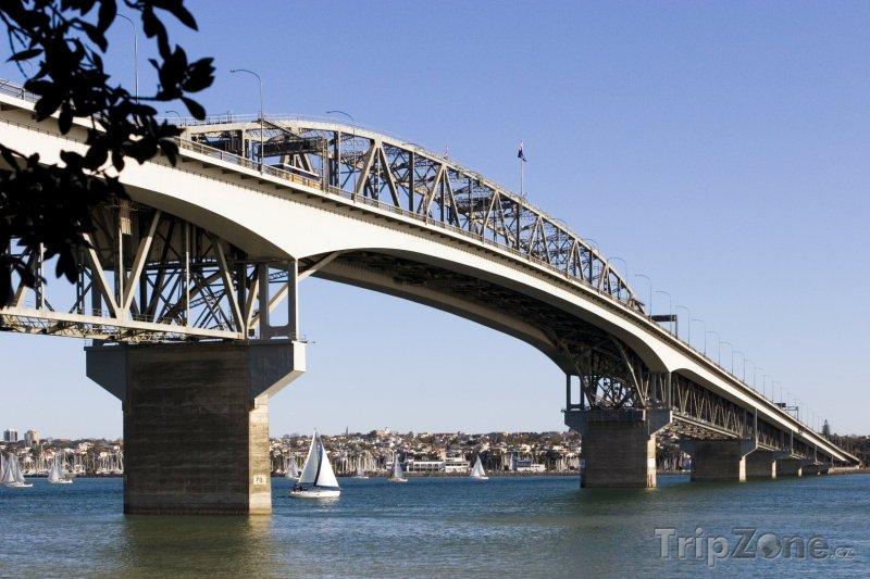 Fotka, Foto Most v přístavu (Auckland, Nový Zéland)