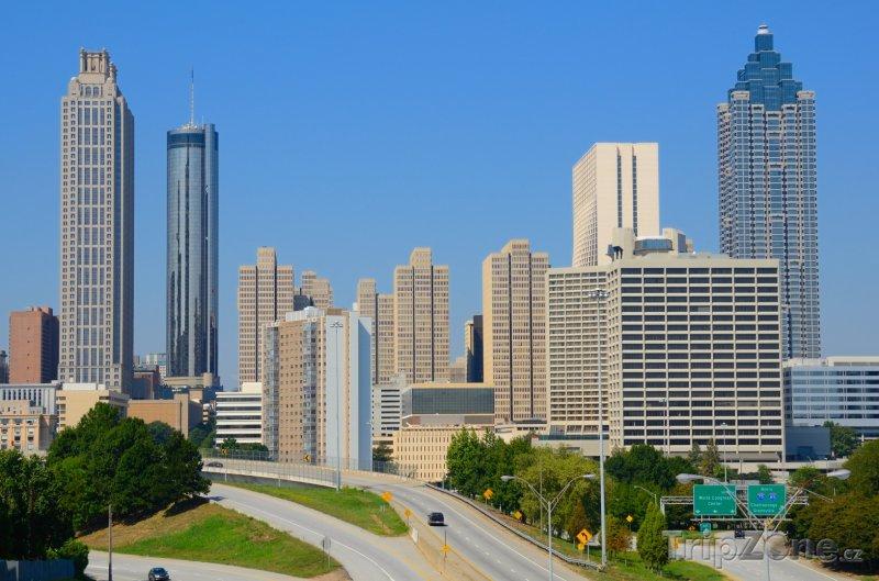 Fotka, Foto Mrakodrapy v centru města (Atlanta, USA)