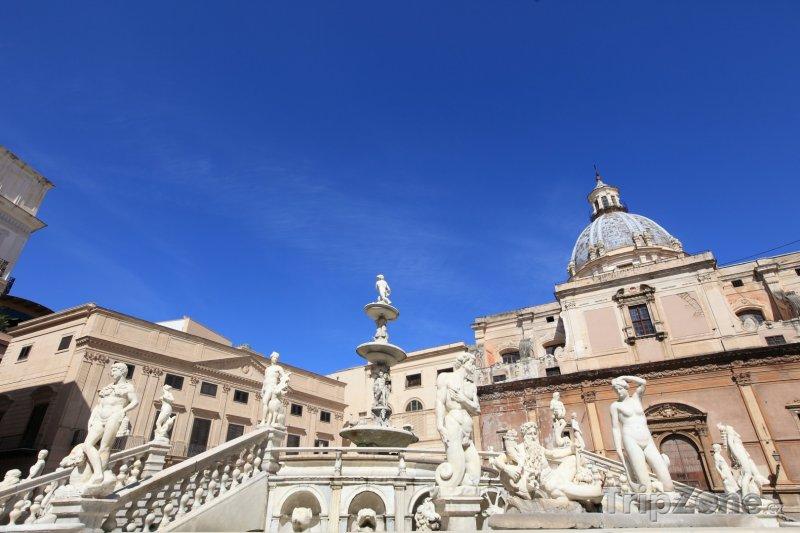 Fotka, Foto Náměstí Piazza Pretoria (Palermo, Itálie)