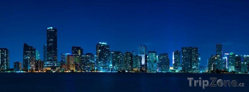 Fotka, Foto Noční panorama (Miami, USA)
