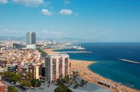 Panorama barcelonského pobřeží