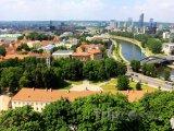 Panorama města s řekou Neris