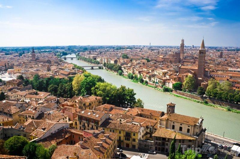 Fotka, Foto Panorama města (Verona, Itálie)