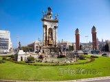 Plaça d'Espanya, fontána na kruhovém objezdu