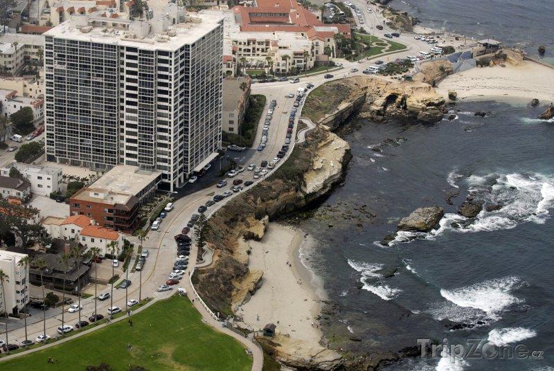 Fotka, Foto Pobřeží letoviska La Jolla (San Diego, USA)