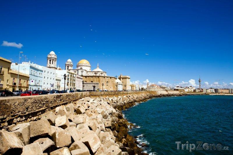 Fotka, Foto Pobřeží města Cádiz (Španělsko)