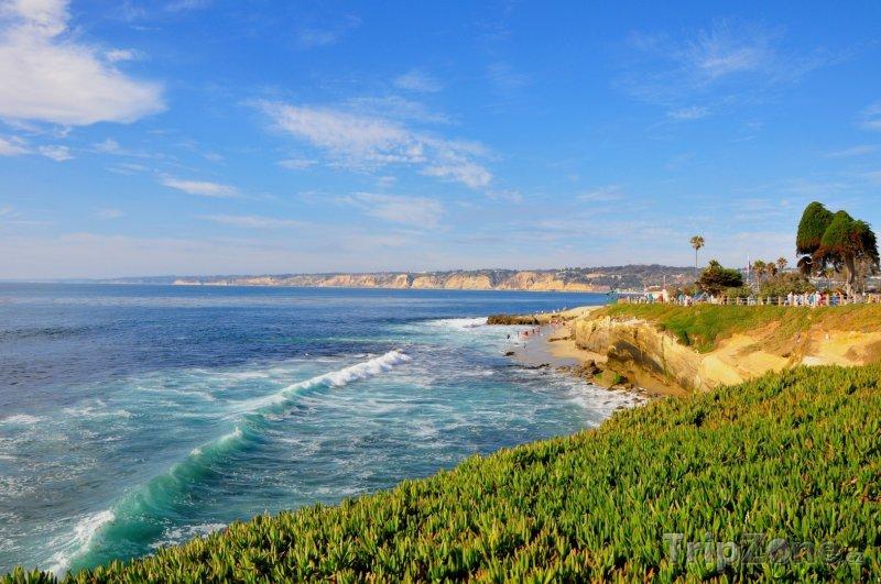 Fotka, Foto Pobřeží u Wipeout Beach (San Diego, USA)