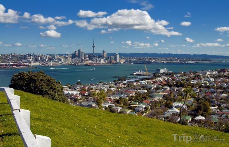 Fotka, Foto Pohled na město z Mount Victoria (Auckland, Nový Zéland)