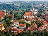 Pohled na město z vrchu Gediminas