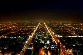 Pohled na noční Rijád