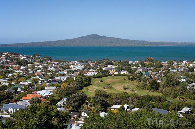 Fotka, Foto Pohled na ostrov Rangitoto (Auckland, Nový Zéland)