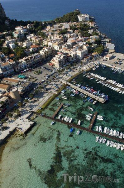 Fotka, Foto Pohled na záliv Mondello (Palermo, Itálie)