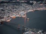 Pohled na zasněžené Tromso