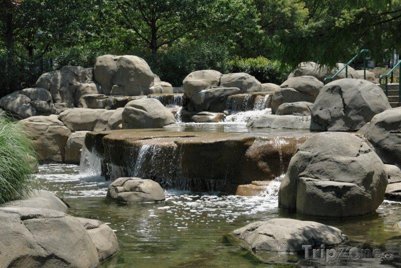 Fotka, Foto Potok v Inman Parku (Atlanta, USA)