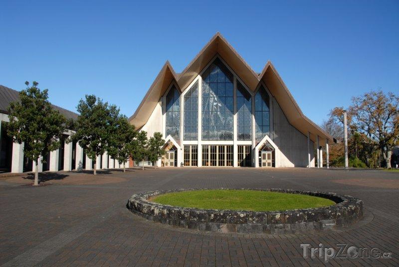Fotka, Foto Předměstí Pernell, katderála Nejsvětější Trojice (Auckland, Nový Zéland)