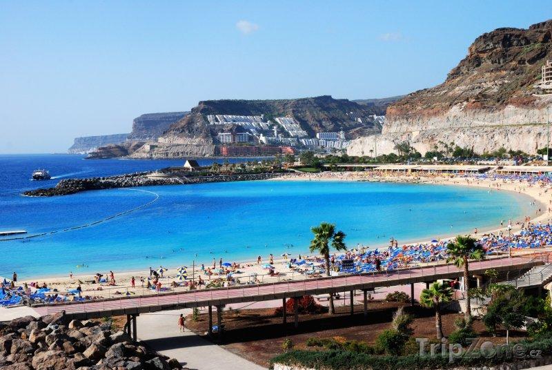 Fotka, Foto Puerto Rico de Gran Canaria, pláž Playa Amadores (Španělsko)