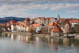 Řeka Dráva v Mariboru