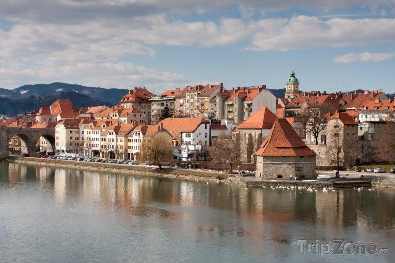 Fotka, Foto Řeka Dráva v Mariboru (Slovinsko)