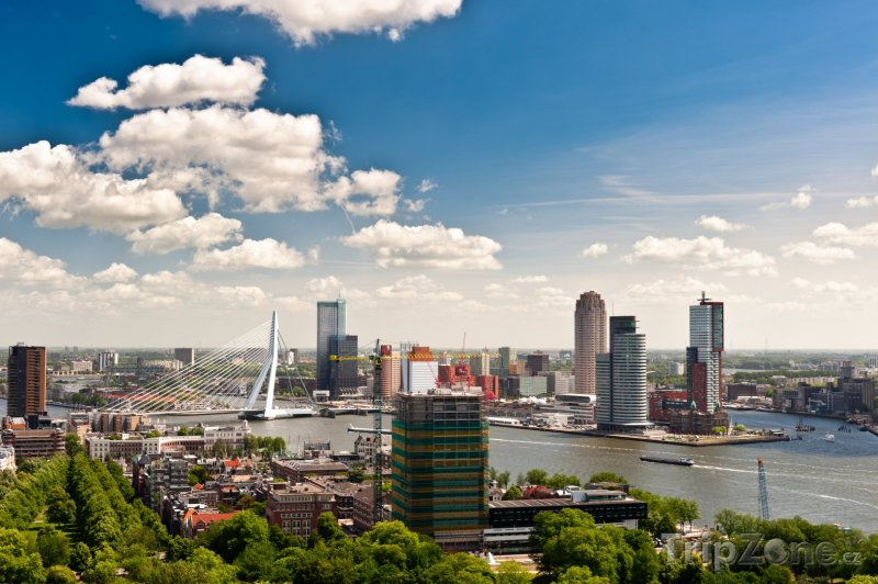 Fotka, Foto Rotterdam panorama (Nizozemsko)