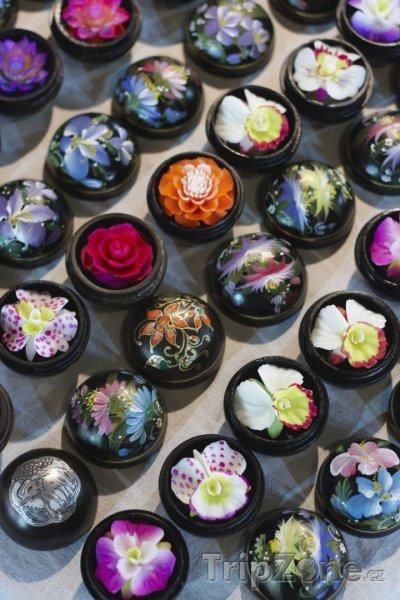 Fotka, Foto Ručně vyráběná mýdla na trhu (Chiang Mai, Thajsko)