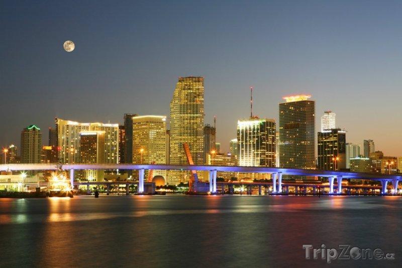 Fotka, Foto Slavná noční scéna - Downtown (Miami, USA)