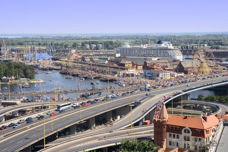 Fotka, Foto Štětín, pohled na přístav (Polsko)