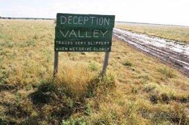 Tshane, silnice v národním aprku Central Kalahari