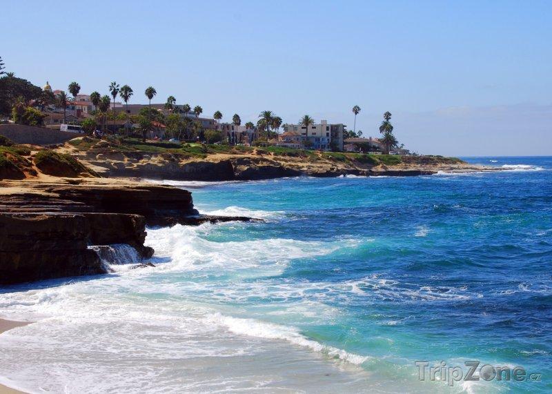 Fotka, Foto Útesy v zátoce La Jolla (San Diego, USA)