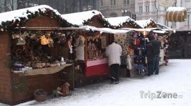 Vánoční trh na Václavském náměstí v Praze