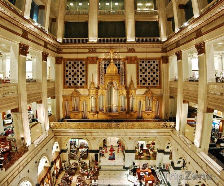 Fotka, Foto Vnitřek obchodního domu Wanamaker's (Filadelfie, USA)