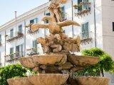 Vrchní část fontány na Piazza Pretoria