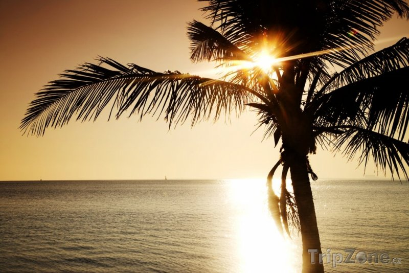 Fotka, Foto Západ slunce nad Key Biscayne (Miami, USA)