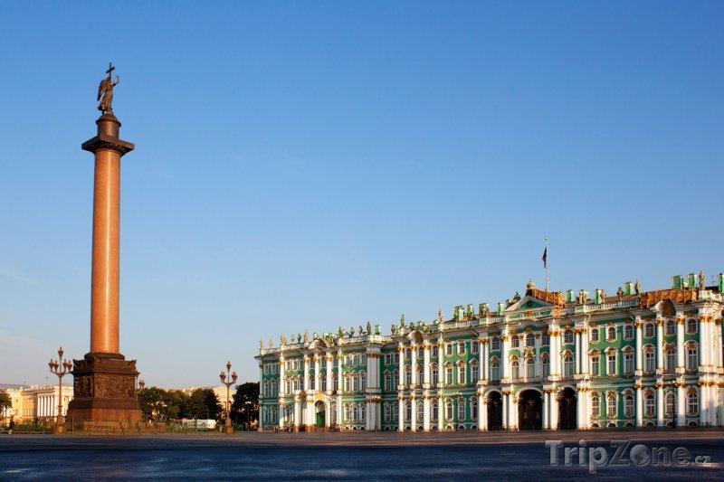 Fotka, Foto Zimní palác a Alexandrův sloup (Petrohrad, Rusko)