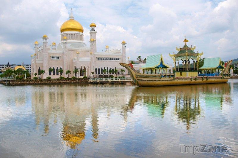 Fotka, Foto Bandar Seri Begawan, mešita Sultan Omar Ali Saifuddin (Brunej)