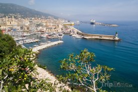 Bastia, pohled na přístav